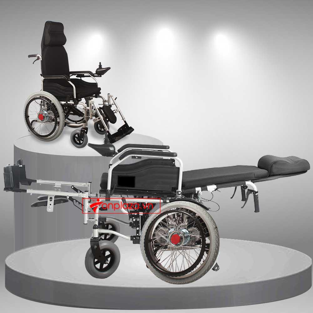 Xe lăn điện siêu gọn thiết kế ngả gập thế hệ mới ( vành nan) TM034N