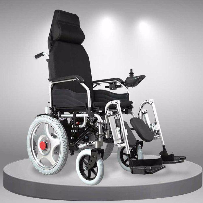 Xe lăn điện tự động thế hệ mới ngả nằm (Vành đúc) TM036D
