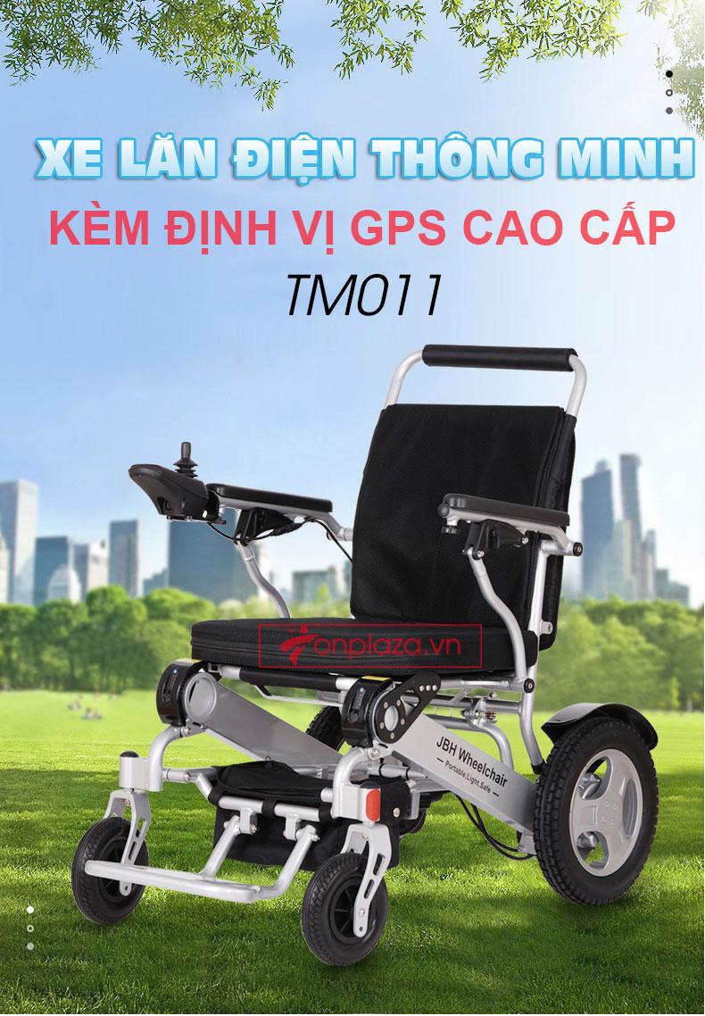 xe lăn điện đa dụng thiết kế hiện đại định vị GPS TM011