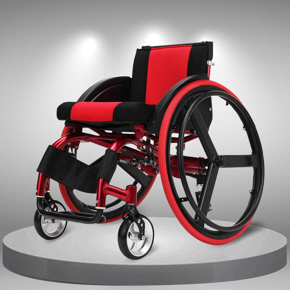 Xe lăn thể thao siêu nhẹ giảm rung lắc dễ gấp gọn tiện lợi kiểu dáng thời trang TM060
