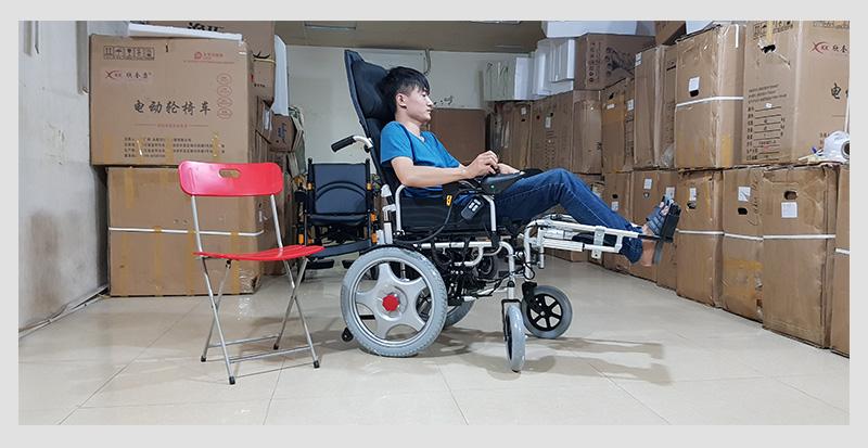 Xe lăn điện tự động thế hệ mới ngả nằm (Vành đúc) TM036D 2