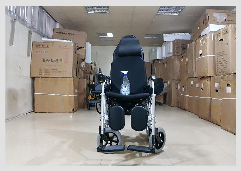 Xe lăn điện tự động thế hệ mới ngả nằm (Vành đúc) TM036D 8