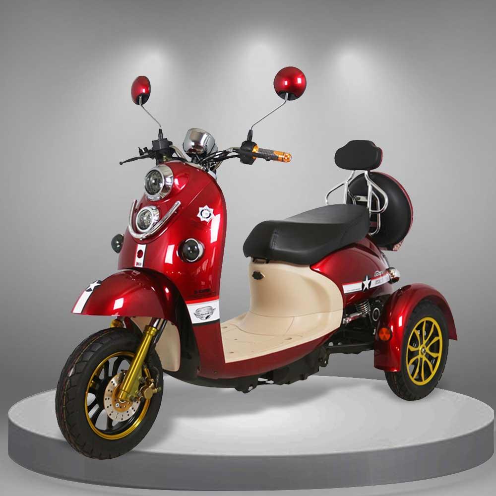 Xe điện ba bánh thể thao TM035 màu đỏ