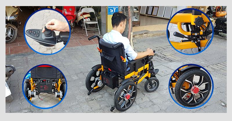 Xe lăn điện thông minh chống lật ngược dành cho người khuyết tật TM057 4