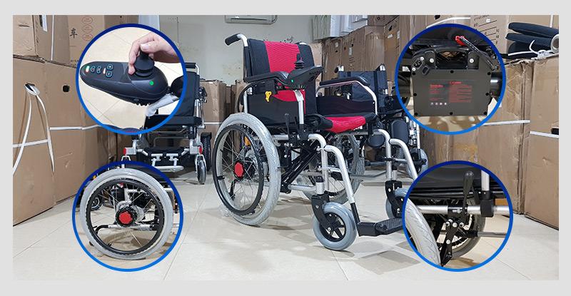 Xe điện 4 bánh TM005 hỗ trợ người già chân yếu di chuyển 4