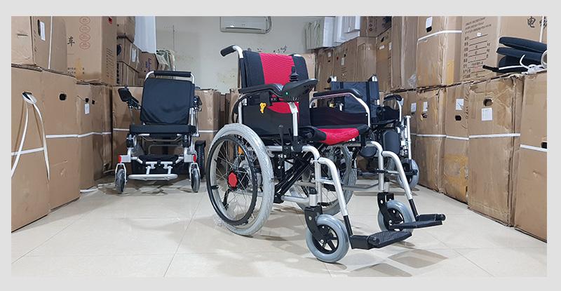 Xe điện 4 bánh TM005 hỗ trợ người già chân yếu di chuyển 5