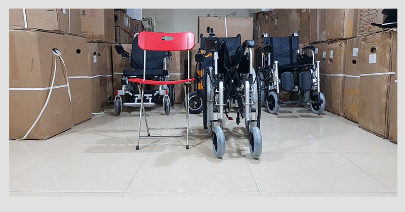 Xe điện 4 bánh TM005 hỗ trợ người già chân yếu di chuyển 8