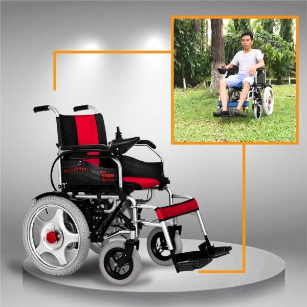 Xe điện cao cấp dành cho người già chân yếu, ghế ngồi có thể ngả gập 180 độ TM004