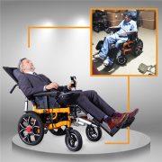 Xe điện cho người cao tuổi vừa nằm vừa gấp được TM083