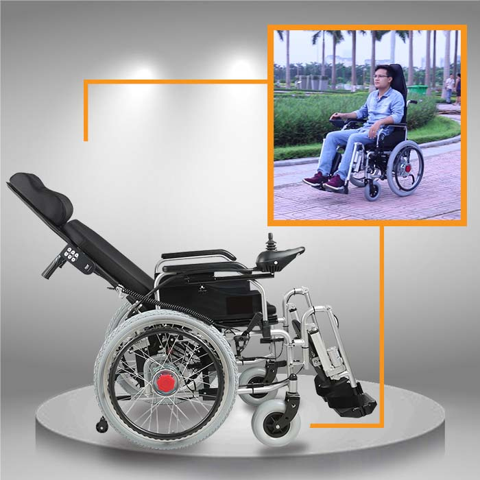 Xe điện công nghệ mới tự động nằm ngả dành cho người cao tuổi TM036