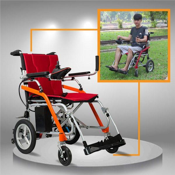 Xe điện siêu nhẹ dành cho người già chân yếu, xe gấp gọn mang lên máy bay, ô tô TM031