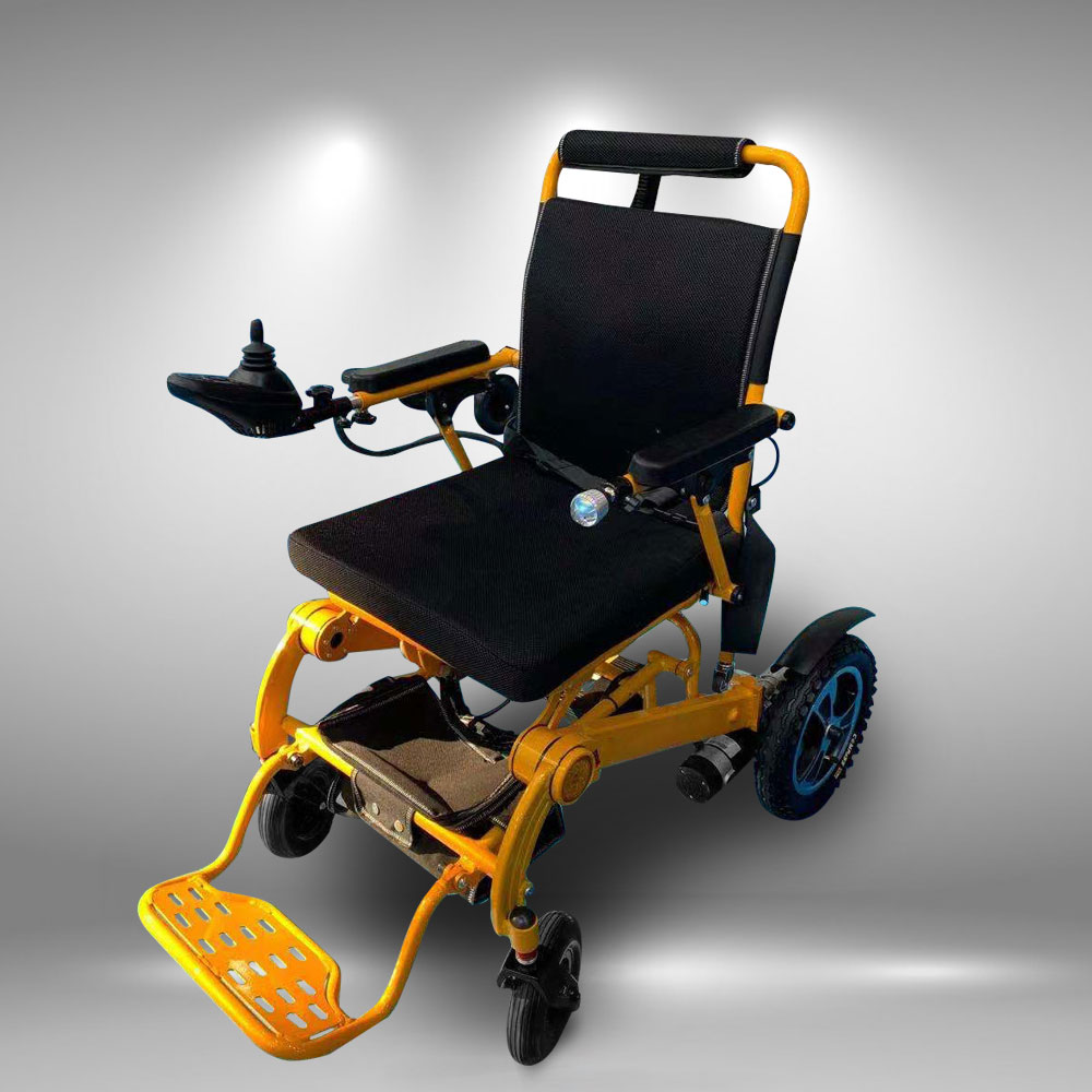Xe lăn điện tự động gấp mở phục hồi chức năng khung hợp kim nhôm cao cấp TM108