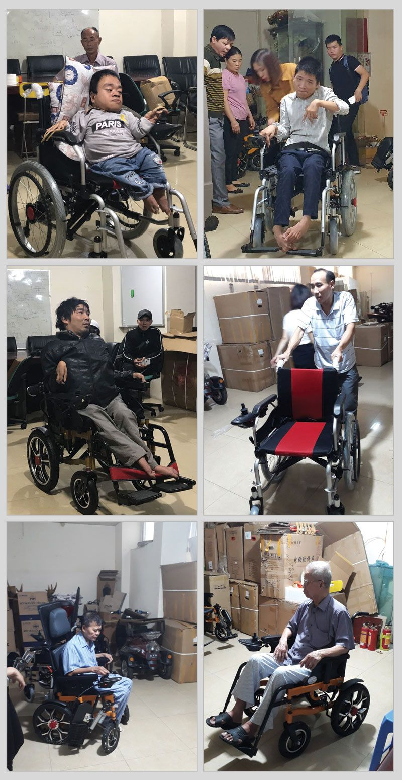 khách hàng mua xe lăn tại xe lăn điện Onplaza 1