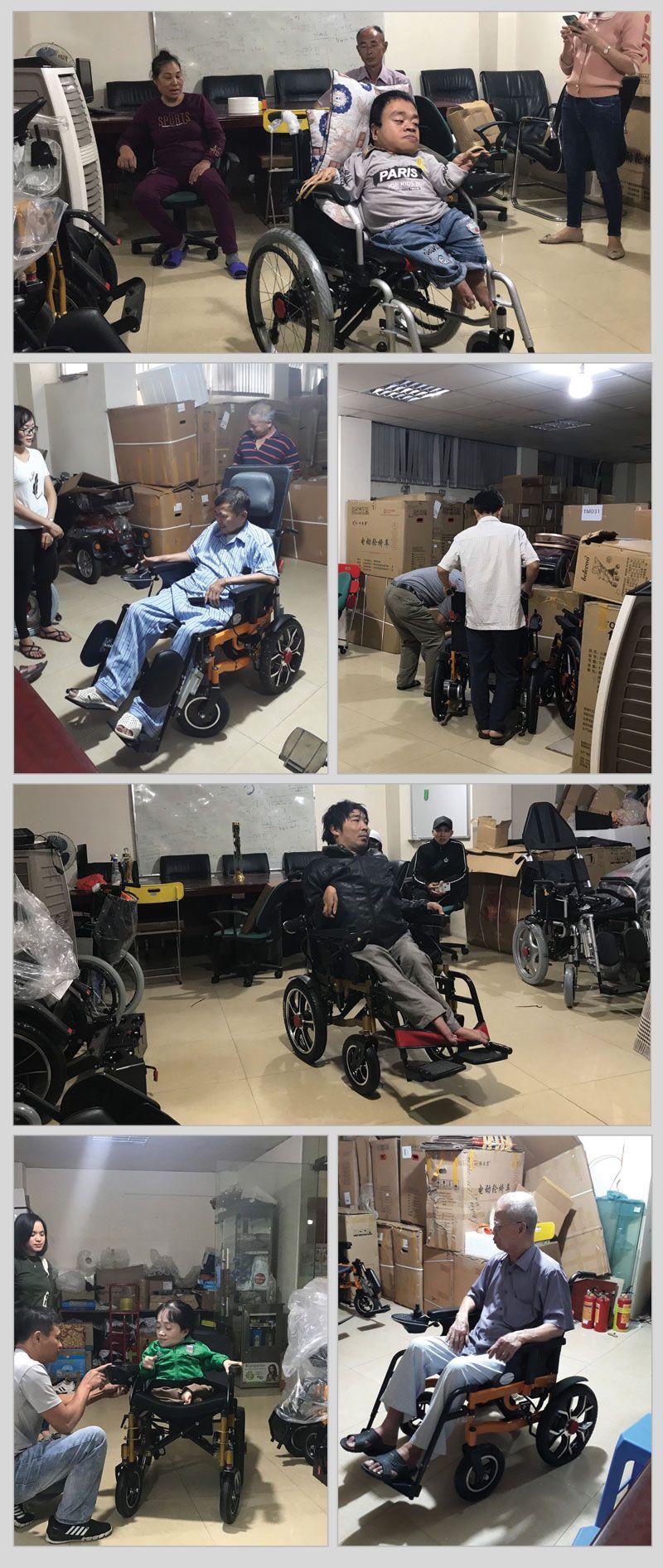 khách hàng mua xe lăn tại xe lăn điện Onplaza 7