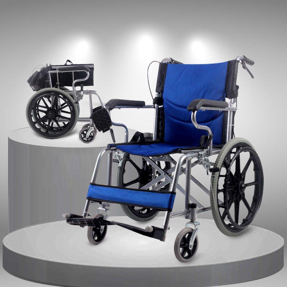 Xe lăn tay đẩy gấp gọn cao cấp loại vành đúc bánh to TM113N 3